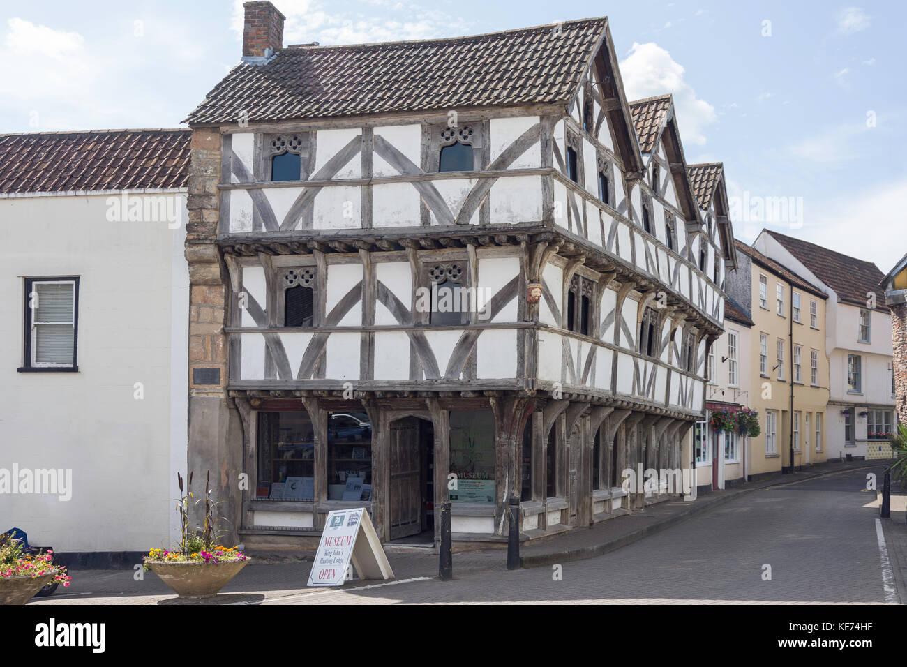 15th century St John's Hunting Lodge, The Square, Axbridge, Somerset, England, United Kingdom - Stock Image
