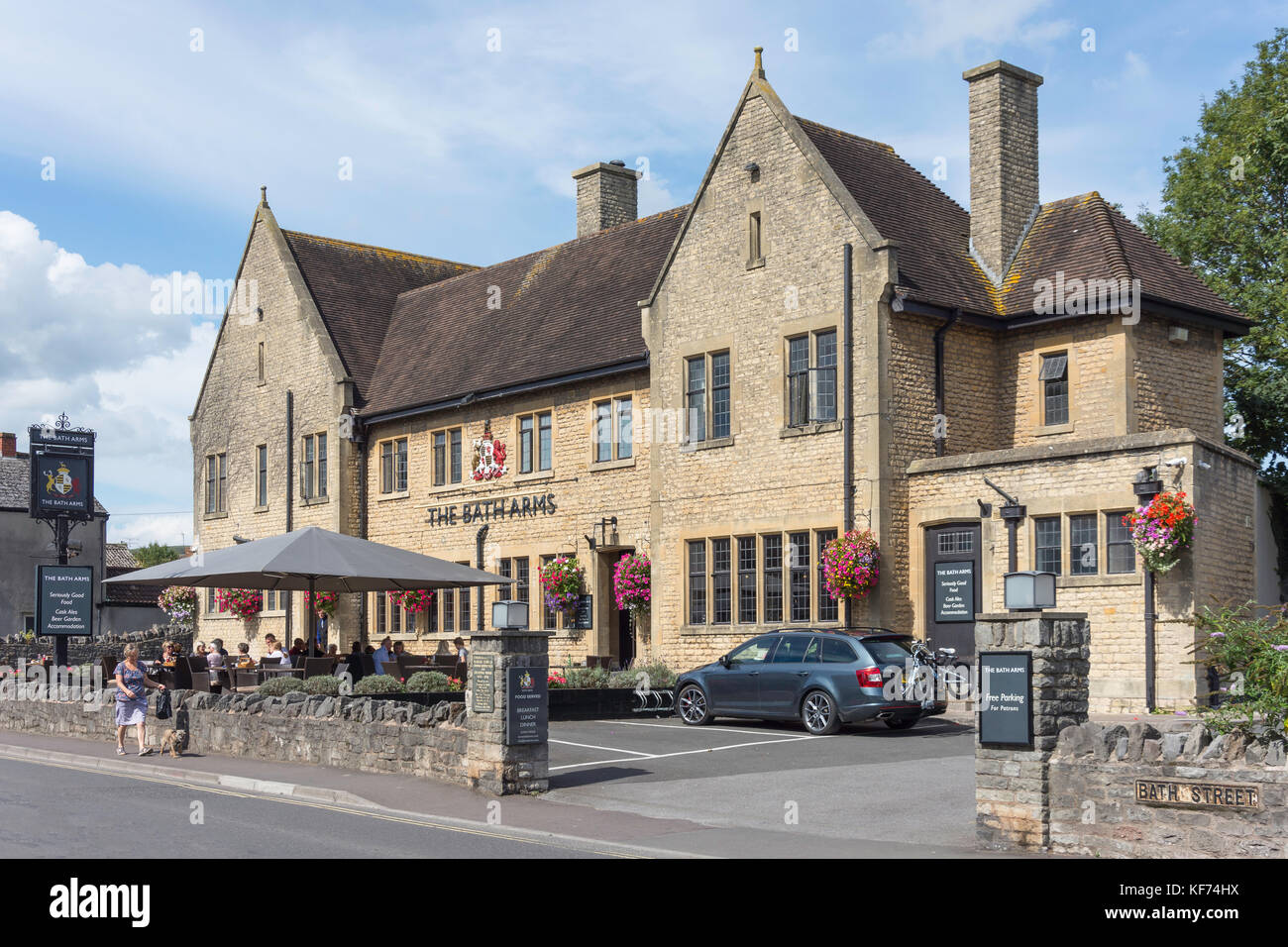 The Bath Arms, Bath Road, Cheddar, Somerset, England, United Kingdom - Stock Image