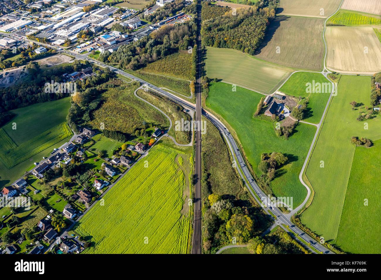 Warendorfer Straße, railway line, road underpass, bridge, railway underpass. Transition to Heessen Bockum-Hoevel, - Stock Image