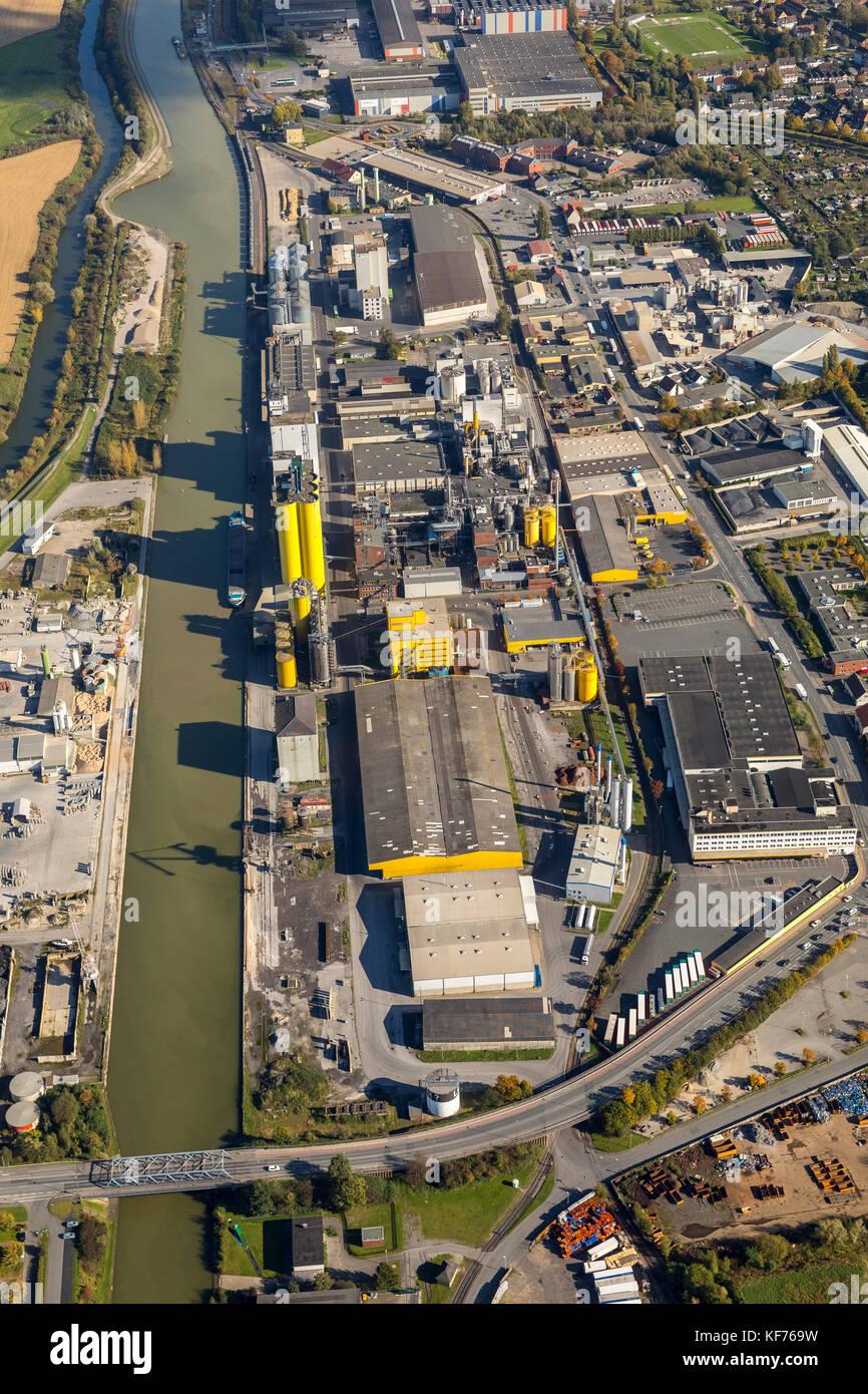 Harbor Hamm, Center, Harbor Road, Datteln-Hamm canal, Speicherstraße, Broelio, HeLi NET Telekommunikation GmbH - Stock Image