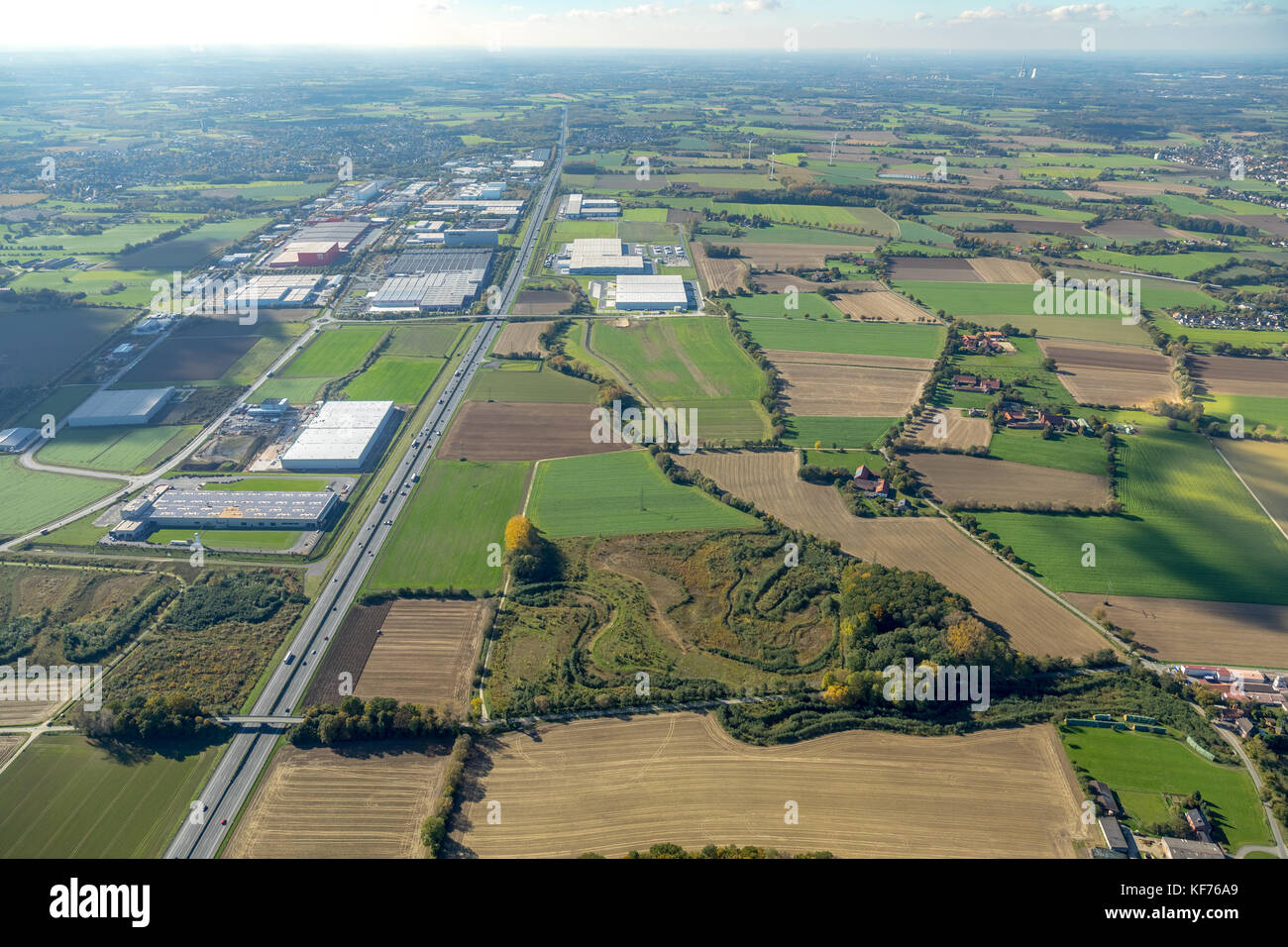INLOG Park, logistics area, planning for industrial development, A2 motorway, industrial estate, urban planning, - Stock Image