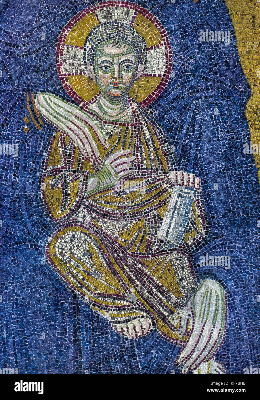 Turkey Istanbul Basilica of the Hagia Sophia - mosaic Jesus Child - detail of the virgin protector Stock Photo