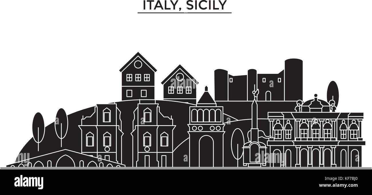 Sicilian architecture stock vector images alamy