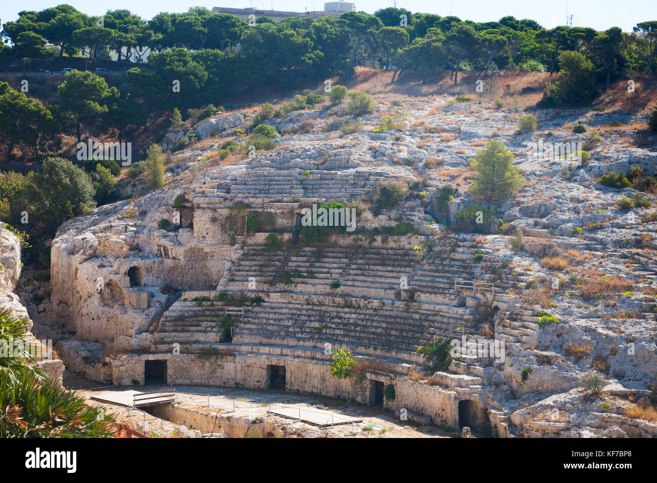 Second century AD Roman Amphitheatre in Cagliari (Calaris), Sardinia, Italy - Stock Image