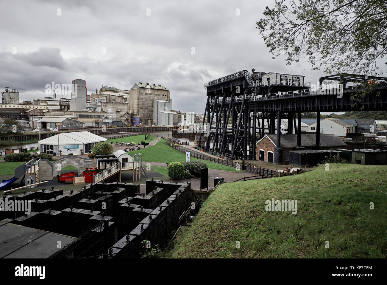 The Anderton boat lift and museum - Stock Image
