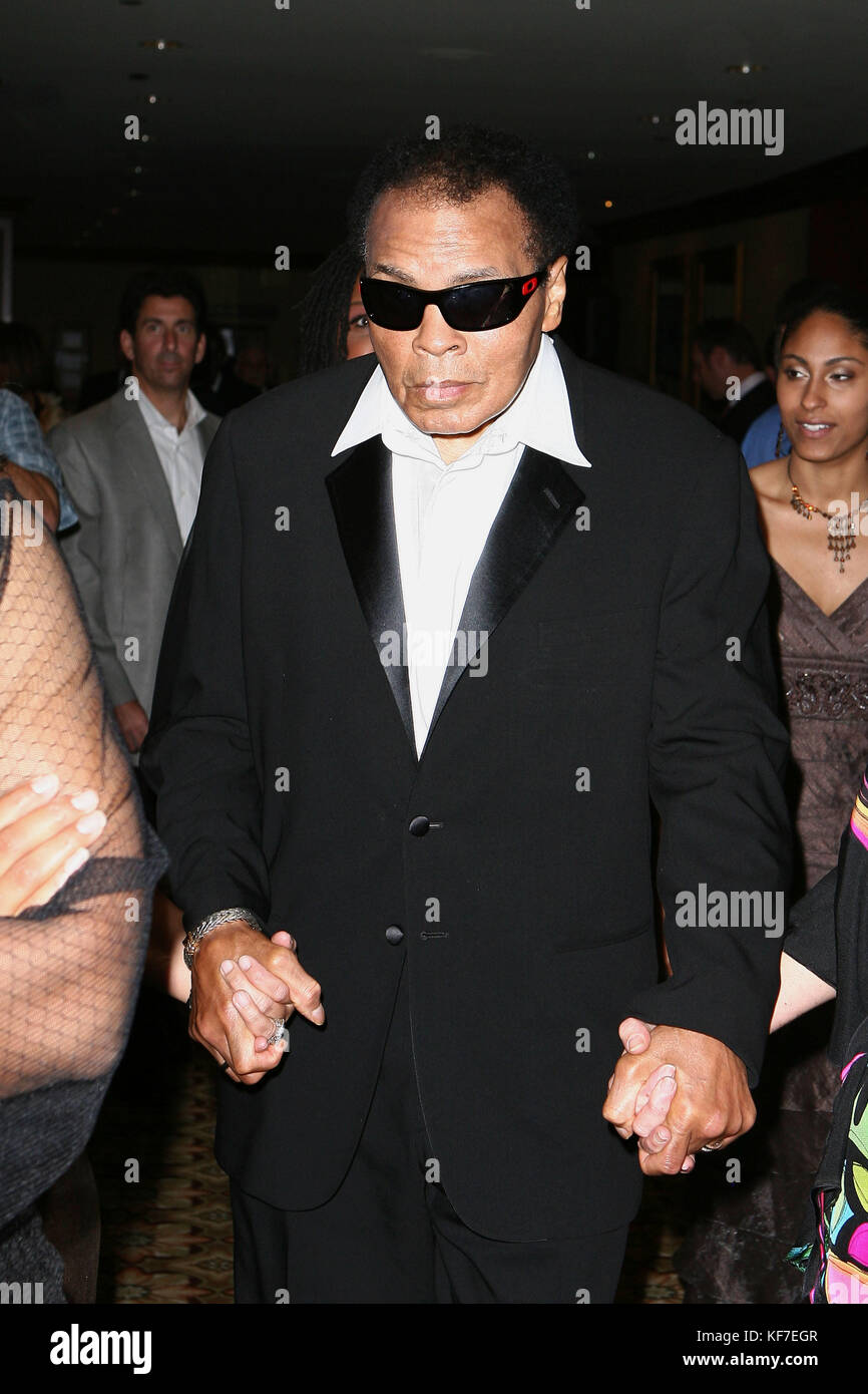 Los Angeles, August12th, 2010. Muhammad Ali attends the 10th Annual Harold Pump Foundation Gala honoring Denzel - Stock Image