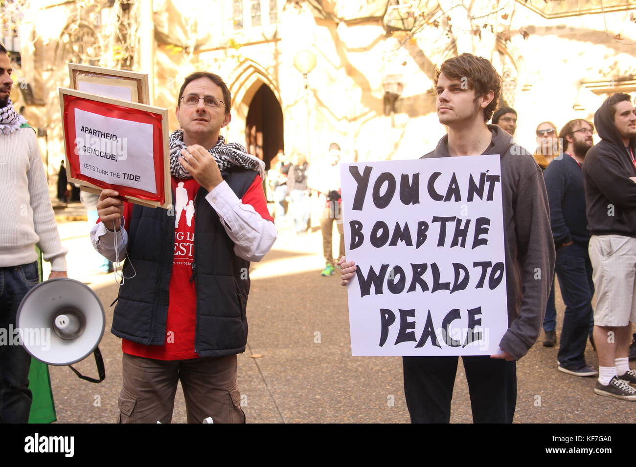 Peace Protest in Sydney - Stock Image