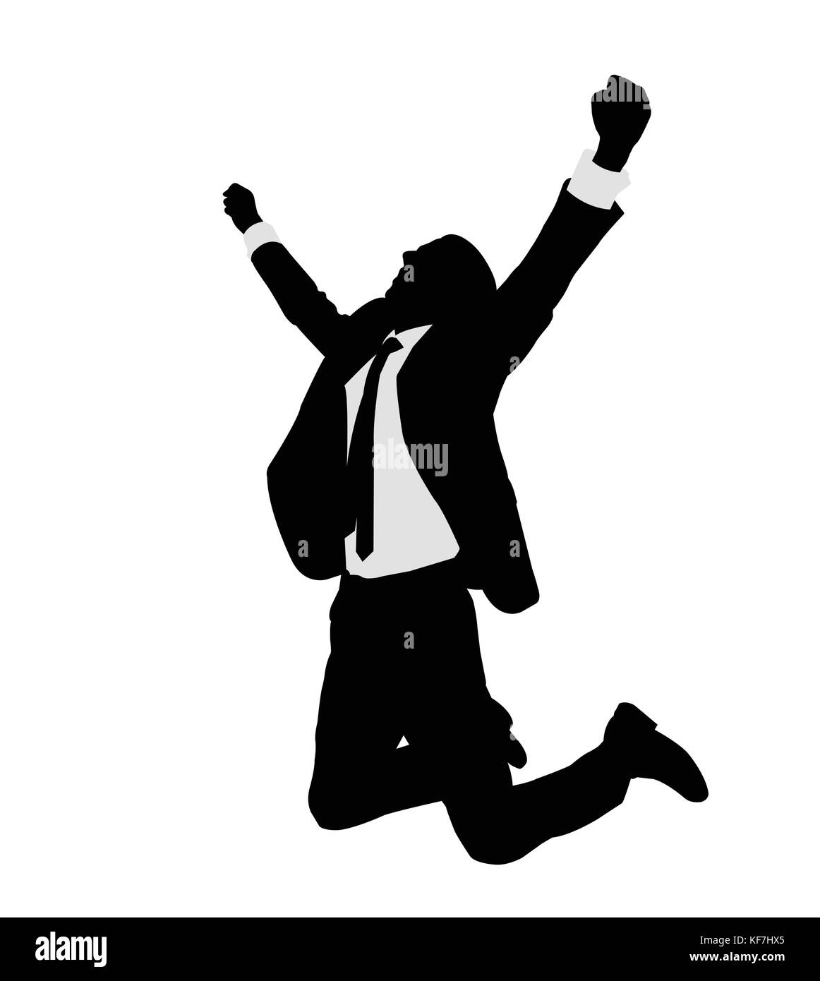 succesful bussinesman celebrating victory  - vector - Stock Vector