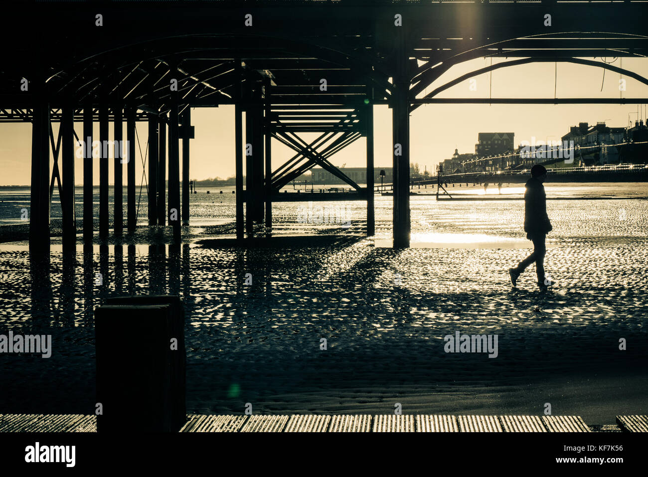Atmospheric Cleethorpes Pier - Stock Image