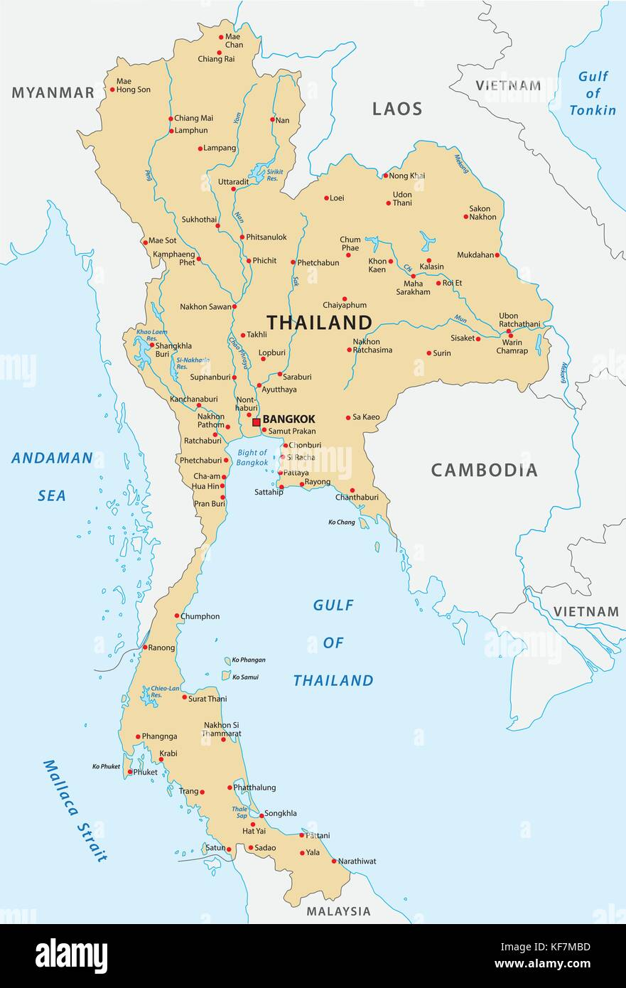 Thailand Map Stock Vector Images - Alamy