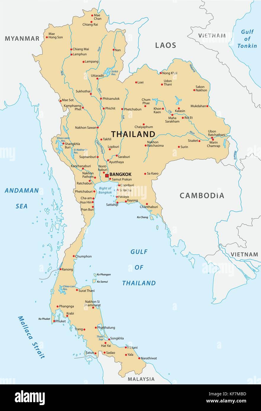 thailand vector map Stock Vector Art & Illustration, Vector ...