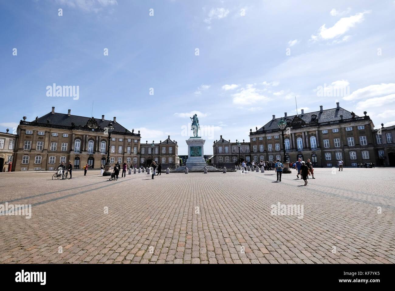 Denmark, Copenhagen, Real Palace of Amalienborg - Stock Image