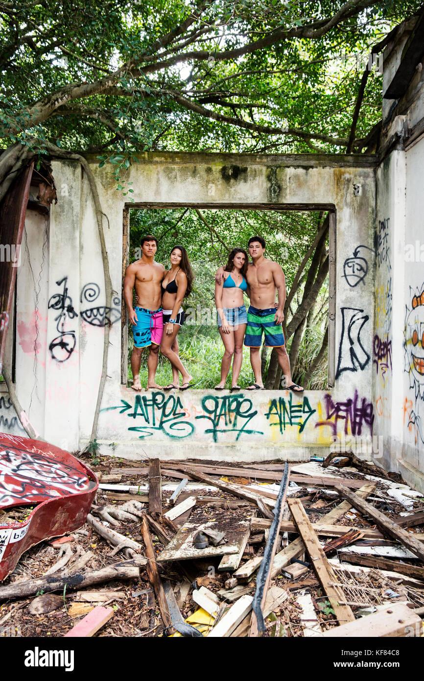 Graffiti Building Men StandingStock Photos and Images
