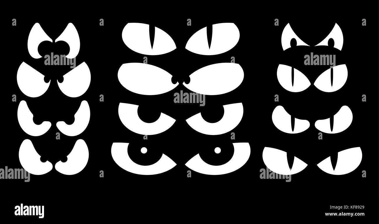 evil scary face eyes black and white stock photos & images - alamy