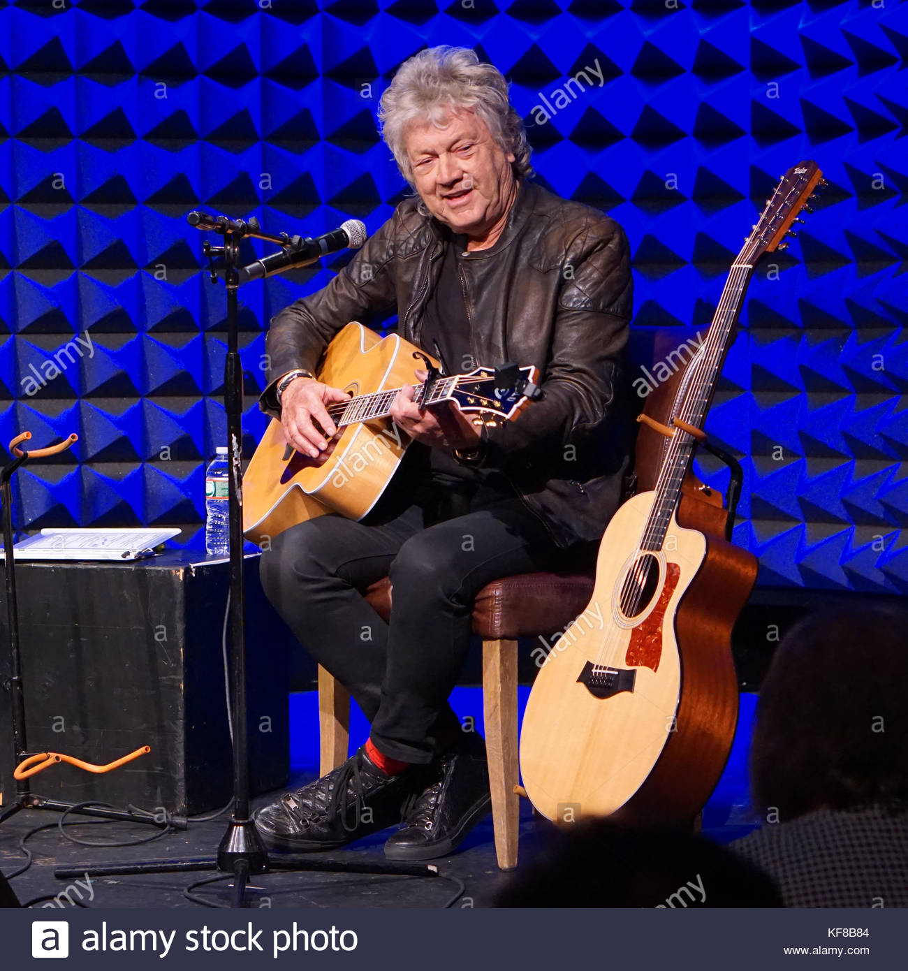 John Lodge of the British Rock Band the Moody Blues Performs at Joe's Pub in New York During the Debut of His - Stock Image