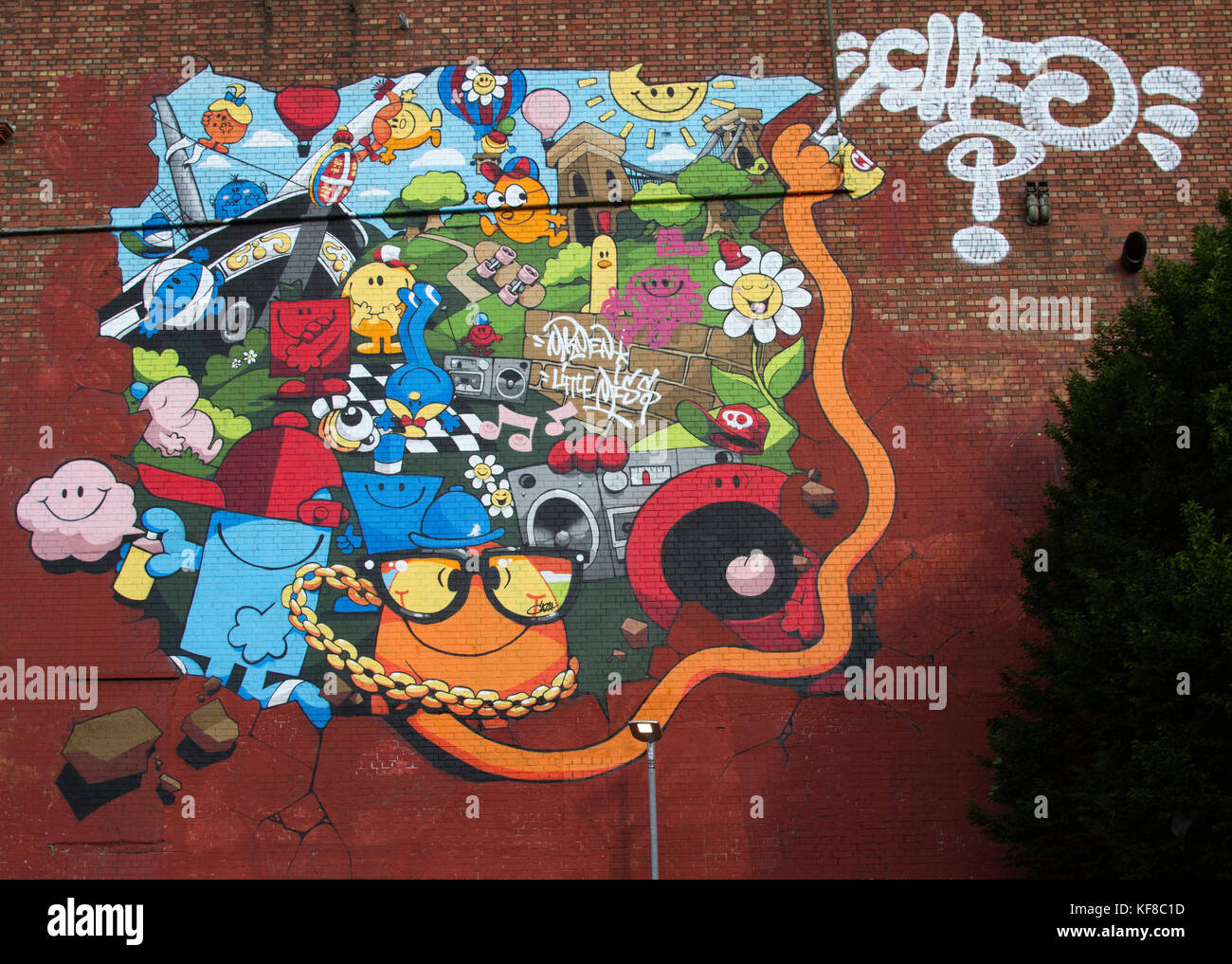 Sreet Art in Bristol at Upfest 2016 - Stock Image