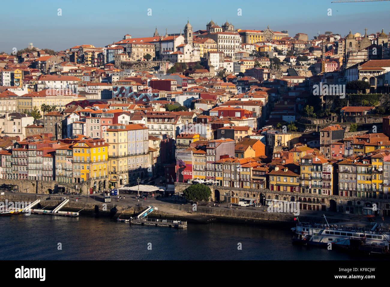 Douro riverfront, Porto, Portugal - Stock Image