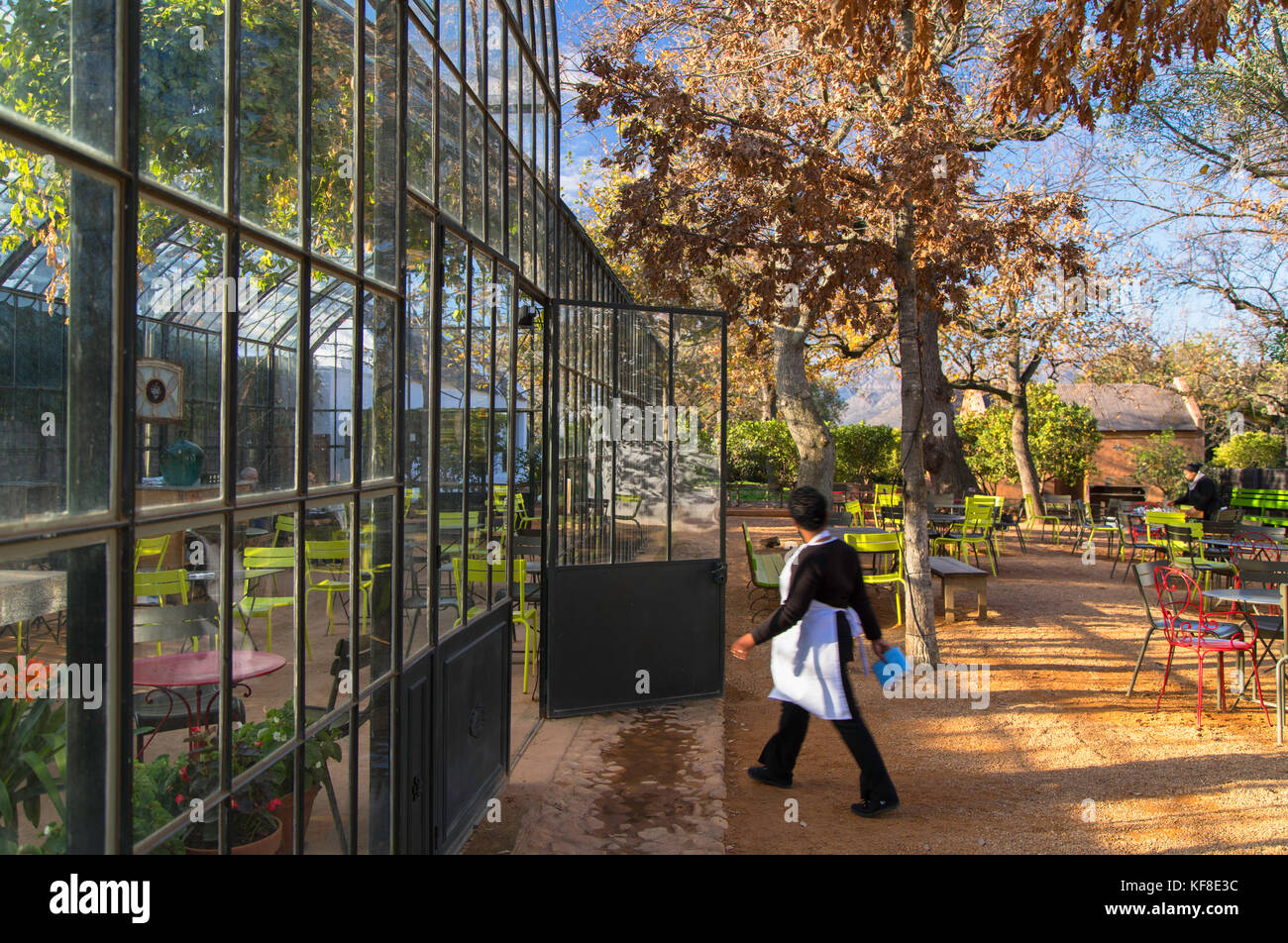 Greenhouse Restaurant at Babylonstoren Wine Estate, Paarl, Western Cape, South Africa - Stock Image