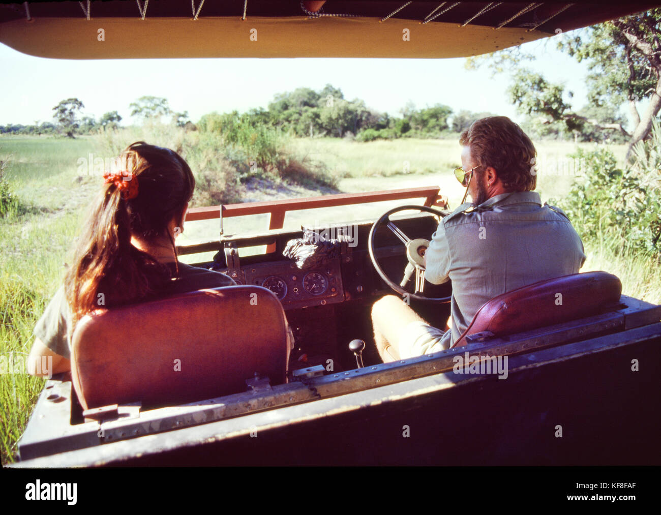 BOTSWANA, Africa, Chobe National Park and Game Reserve, an early morning game drive in the park - Stock Image