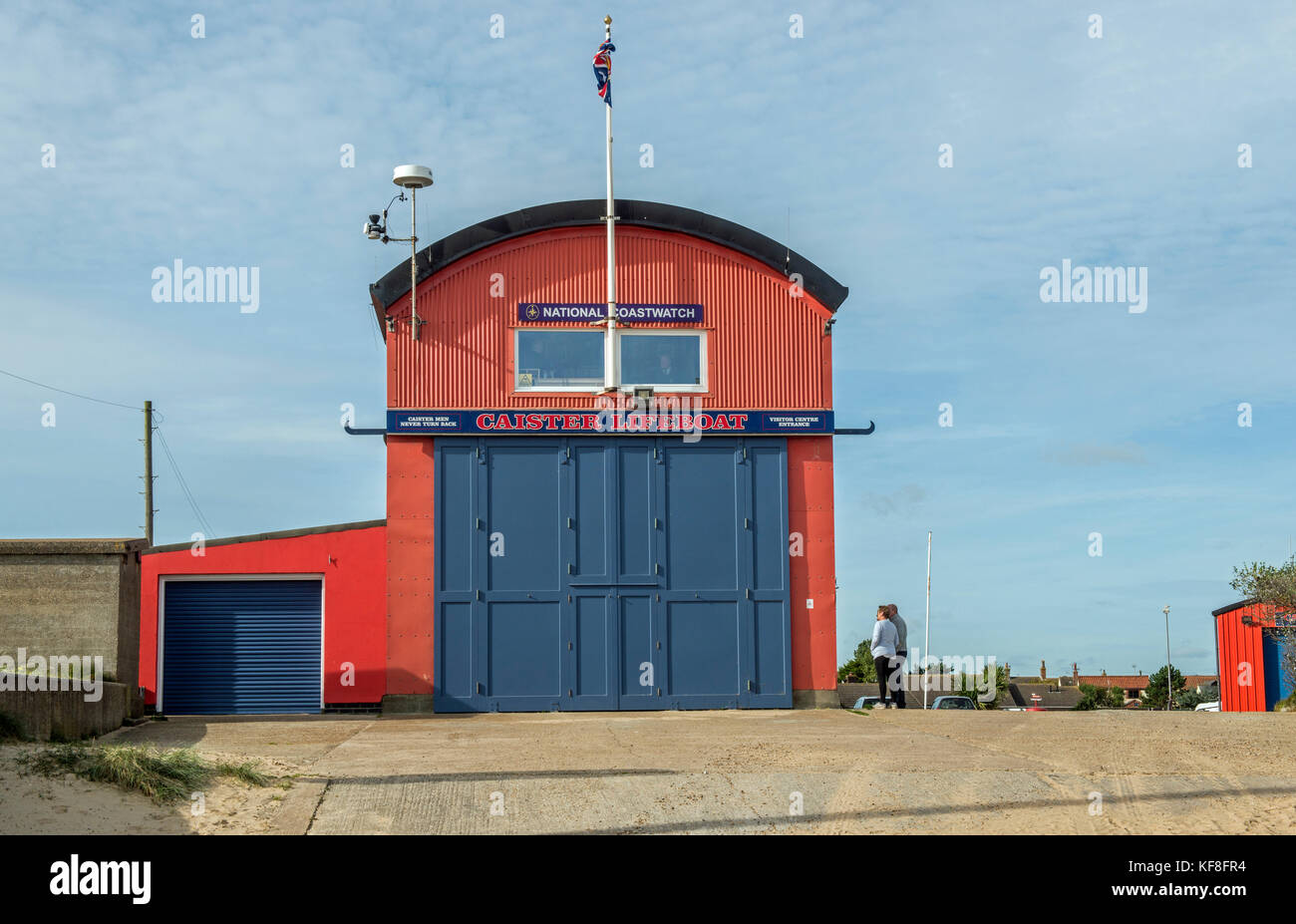 Caister Lifeboat Station on the Norfolk Coast england Stock Photo