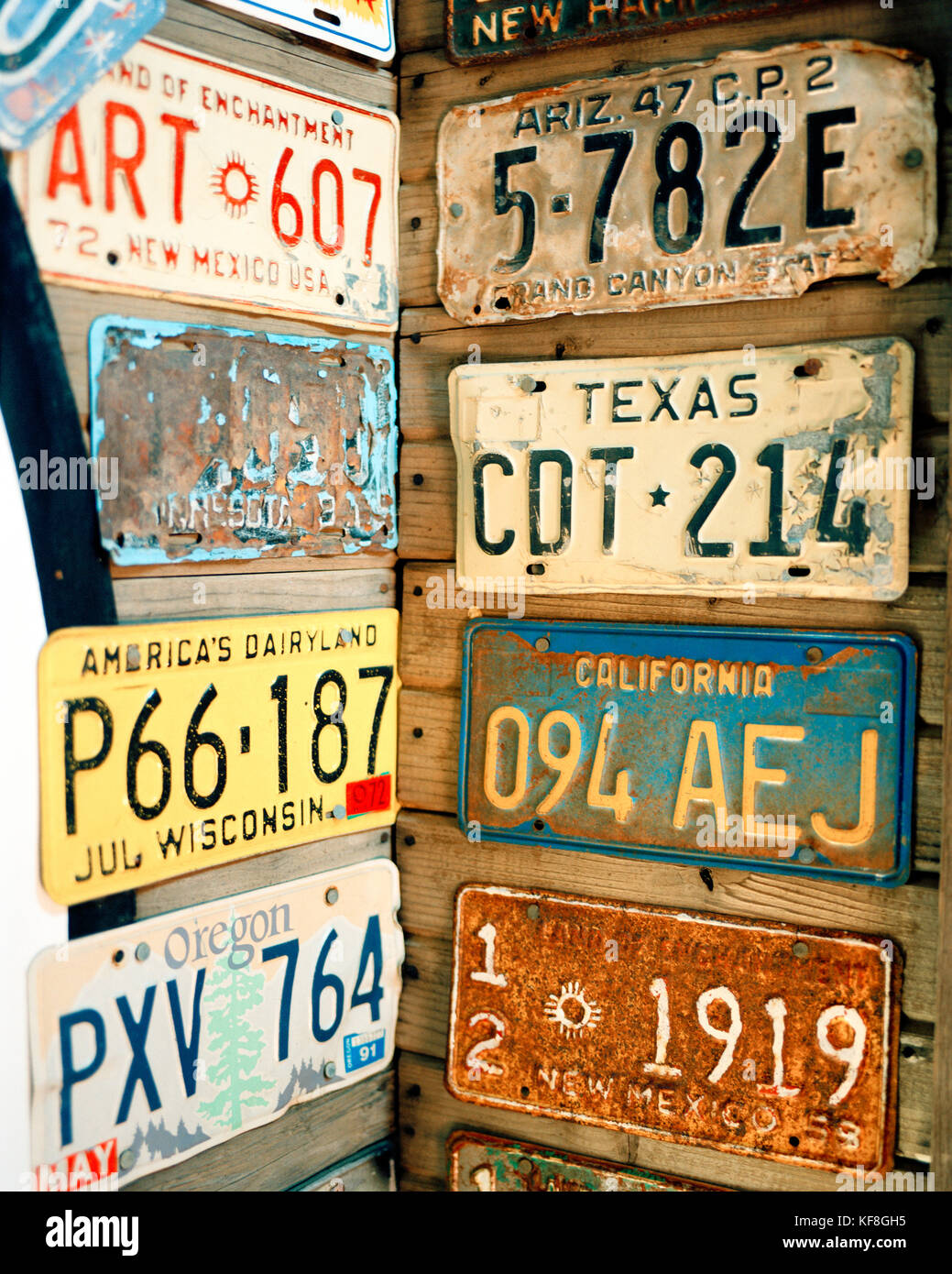 Old Western License Plates Stock Photos & Old Western License Plates ...