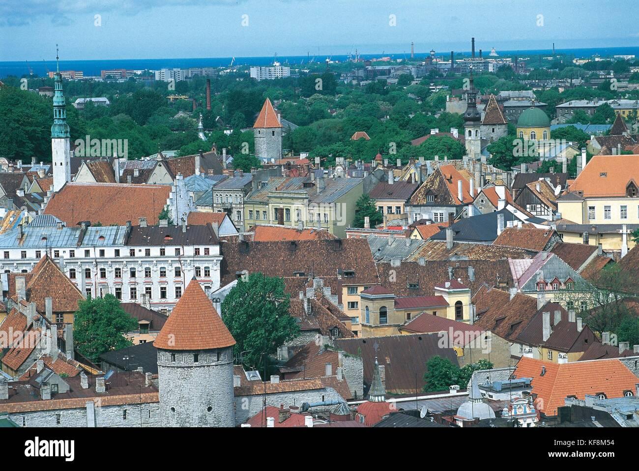 Estonia, Historic Centre (Old Town) of Tallinn (Vanalinn). UNESCO World Heritage List, 1997 Stock Photo