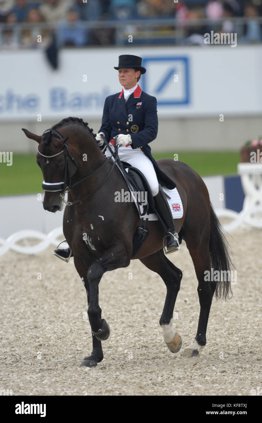 Emma Hindle (GBR) riding Lancet - World Equestrian Games, Aachen, - August 25, 2006, Grand Prix Special - Stock Image