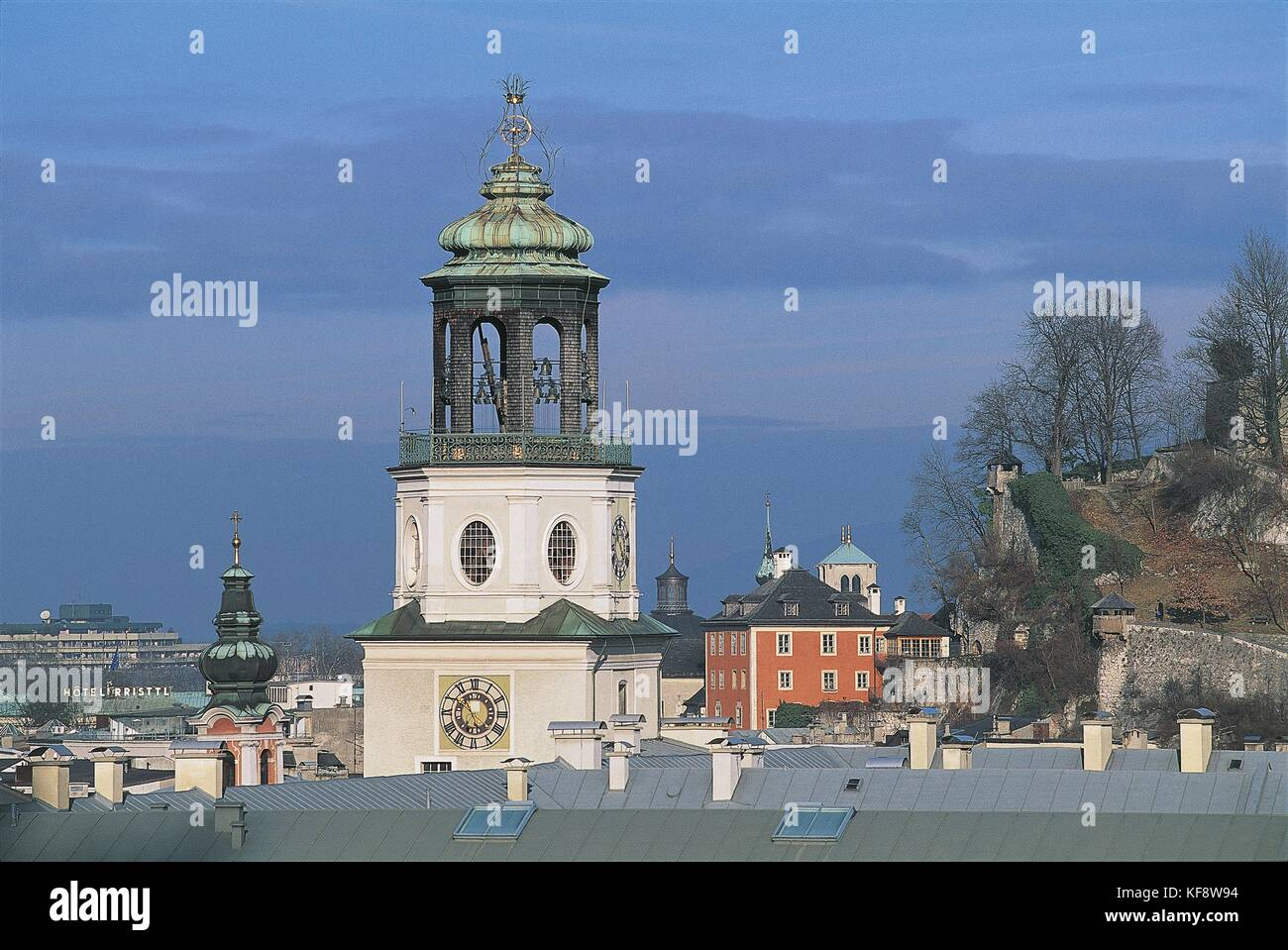 Austria, Salzburg (UNESCO's World Heritage Site, 1996). Salzburger Glockenspiel. Carillon bells Stock Photo