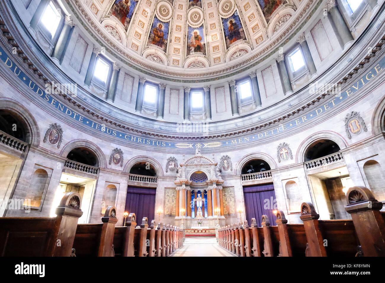 Denmark, Copenhagen, Marble Church - Stock Image