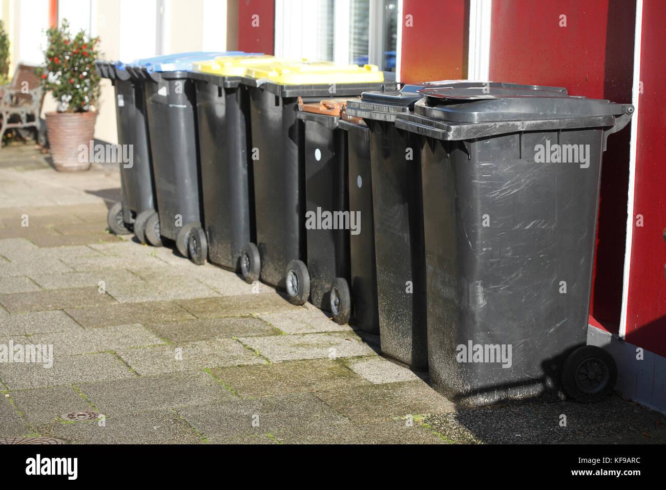 ecycling bins Stock Photo
