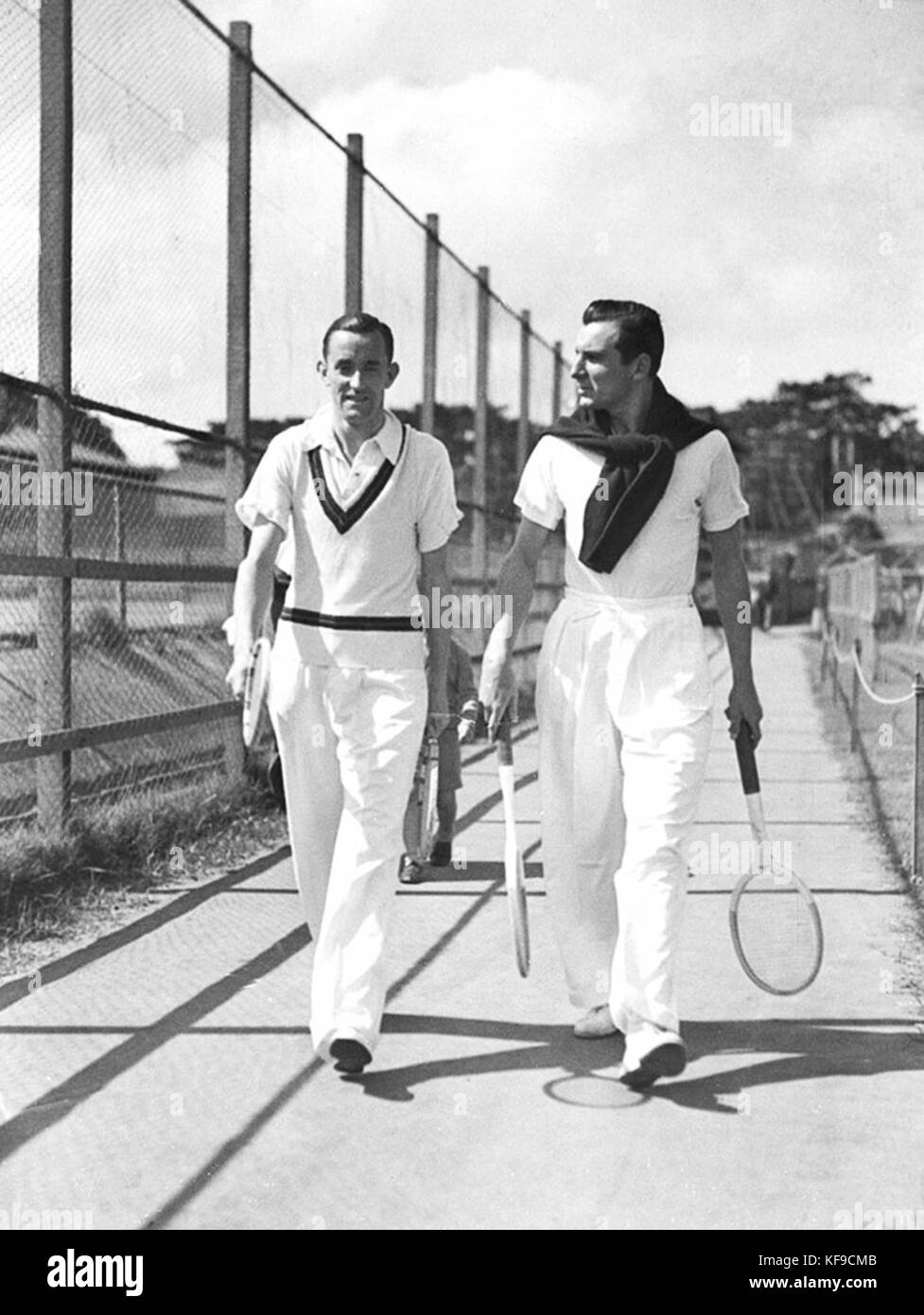 Pat Hughes Fred Perry 1934 - Stock Image