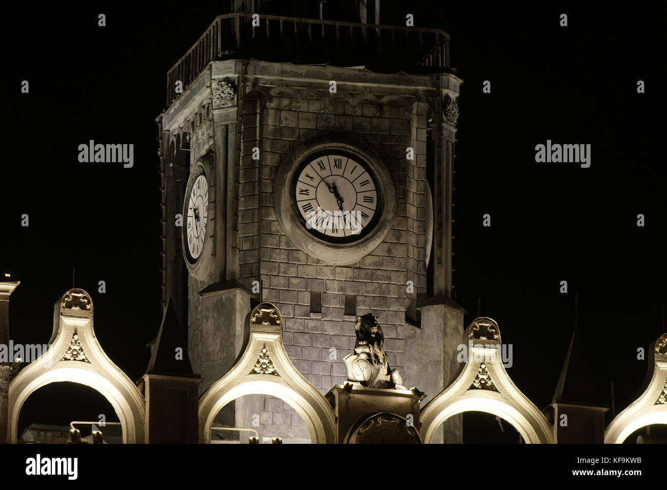 Lit from below, the watch looked very impressive. - Stock Image