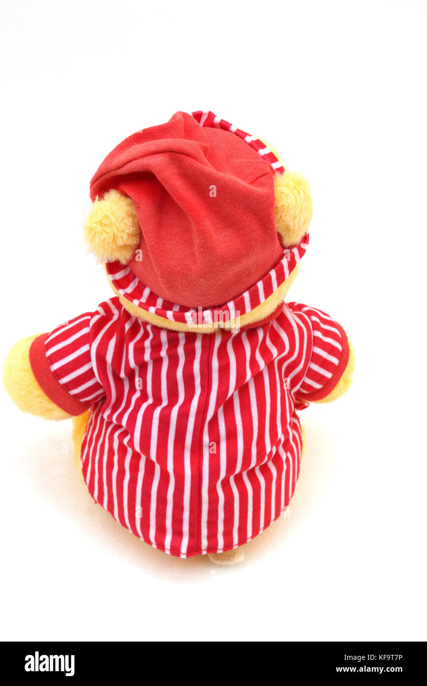Disney's Winnie The Pooh In Night Clothes Soft Toy Back View - Stock Image