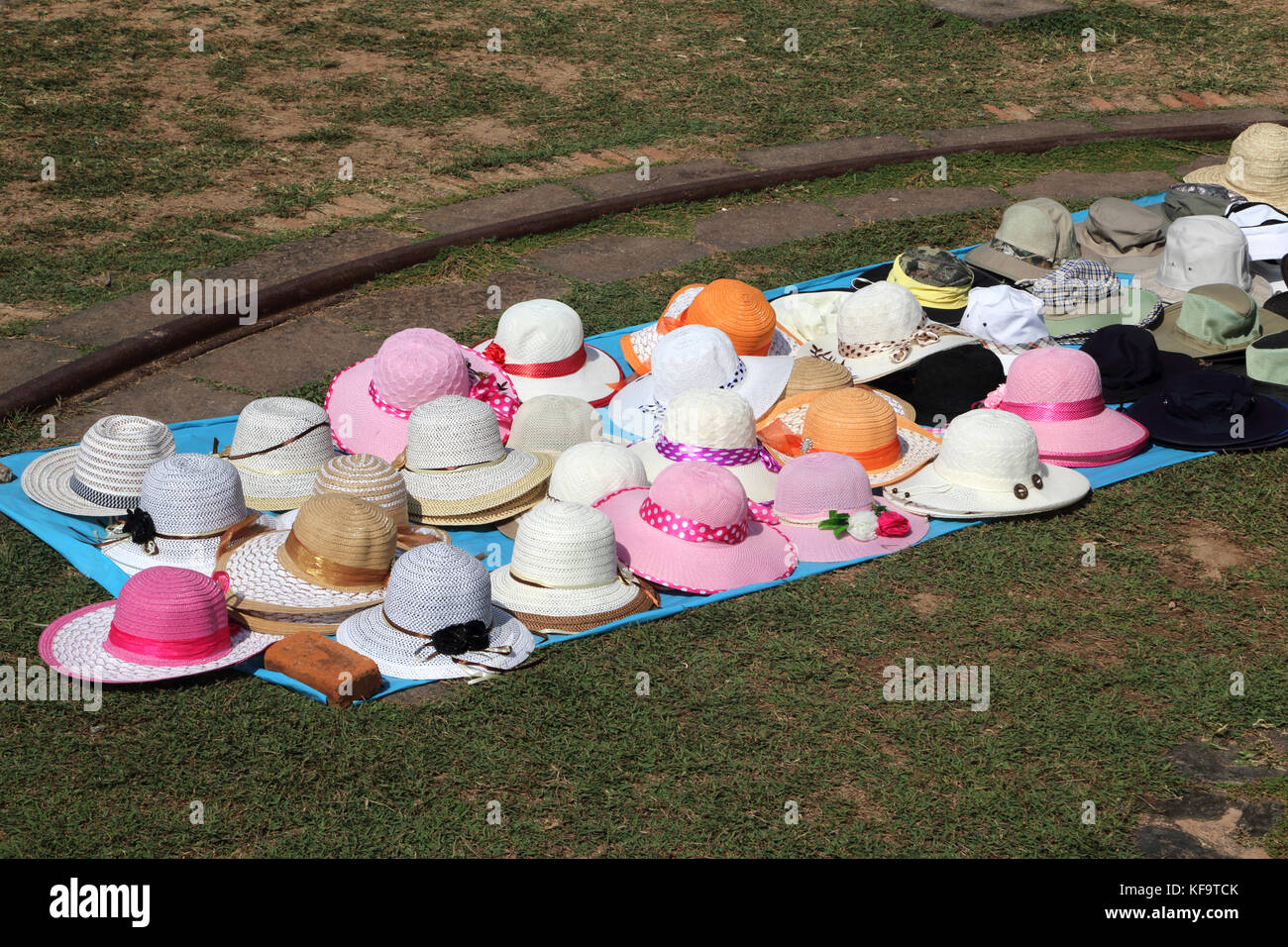 Galle Fort Galle Southern Province Sri Lanka Point Utrecht Bastion Summer Hats on Sale by White Lighthouse - Stock Image