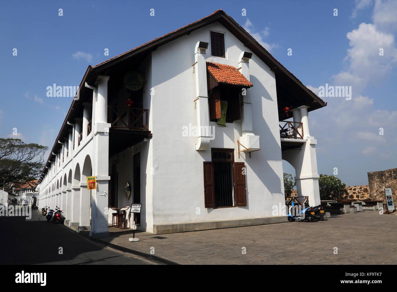 Galle Fort Galle Southern Province Sri Lanka Hospital Street Dutch Hospital Shopping Precinct - Stock Image
