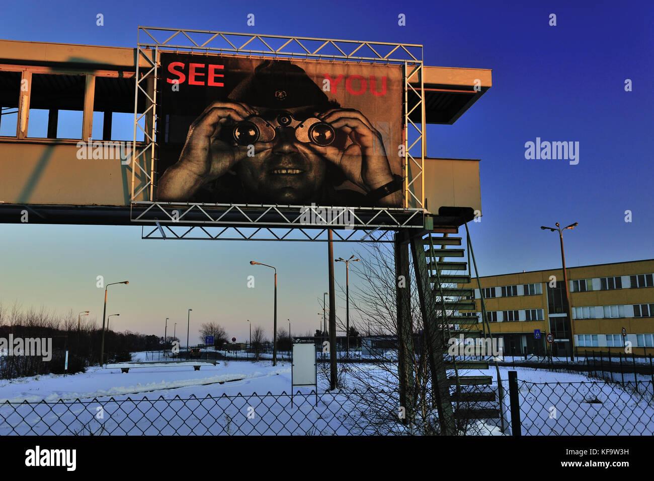 border, border checkpoint helmstedt-marienborn, crossing, ddr geschichte, deutschland, europe, european, fremdenverkehr, - Stock Image