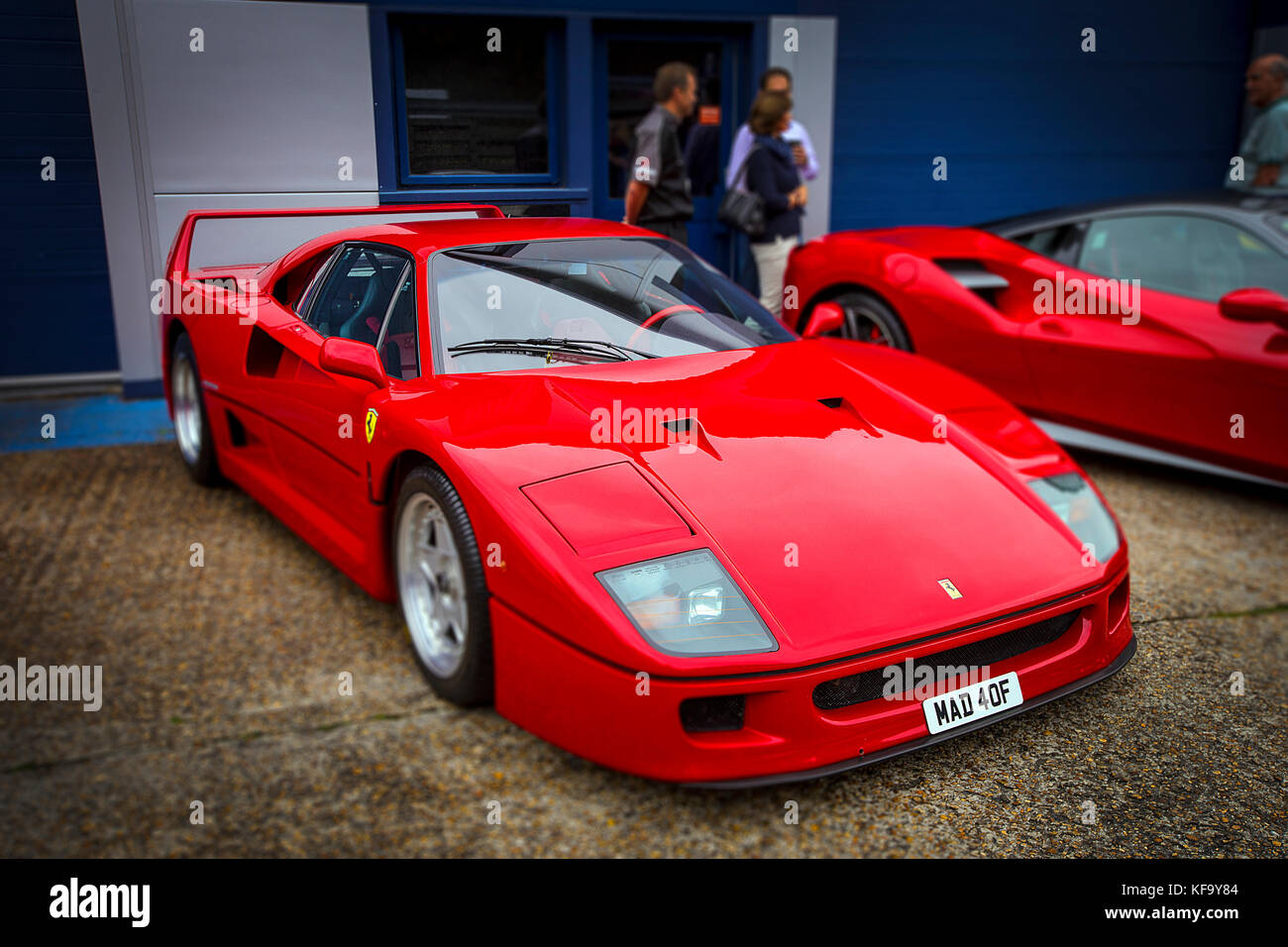 The Ferrari F40 is a mid-engine, rear-wheel drive, two-door
