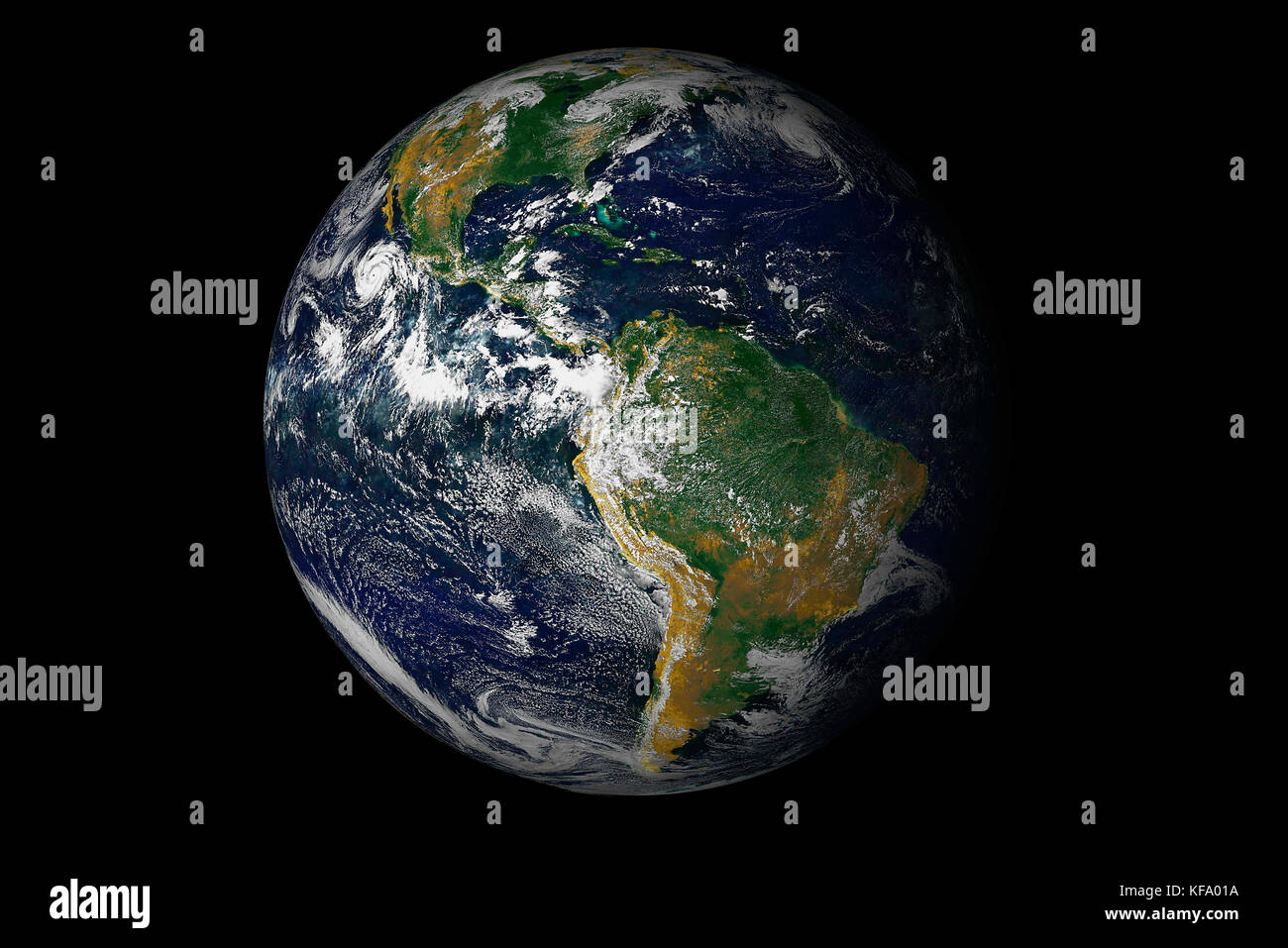 Earth, South America as viewed from space. - Stock Image