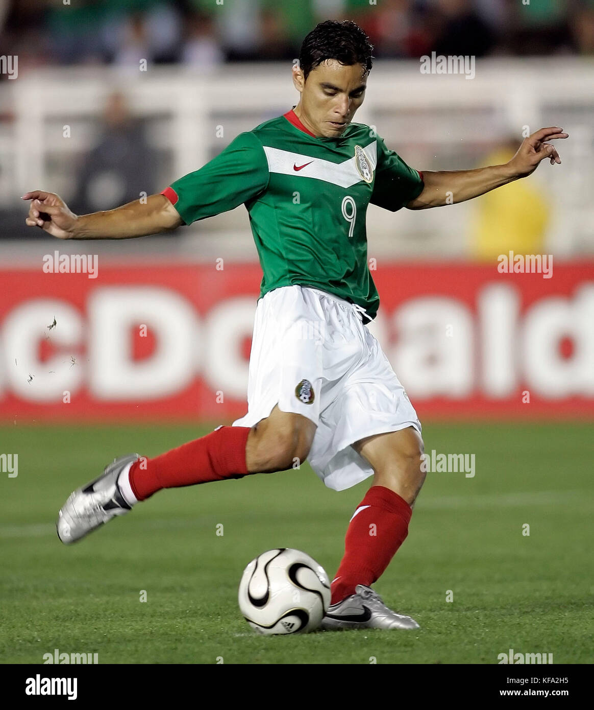 77e917993 Mexico s Omar Bravo scores on a penalty kick against Venezuela in the  second half of a