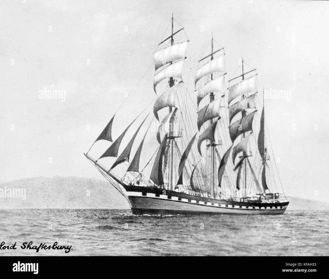 Lord Shaftesbury (ship, 1888)   SLV H99.220 3091 - Stock Image