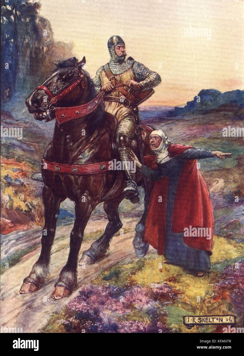 Sir William Wallace, Scottish knight who became one of the main leaders during the Wars of Scottish Independence - Stock Image