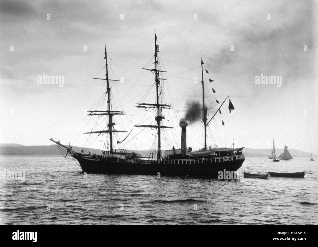 Expedition ship SS Southern Cross She was lost at sea returning from the seal hunt on March 31, 1914, killing all - Stock Image