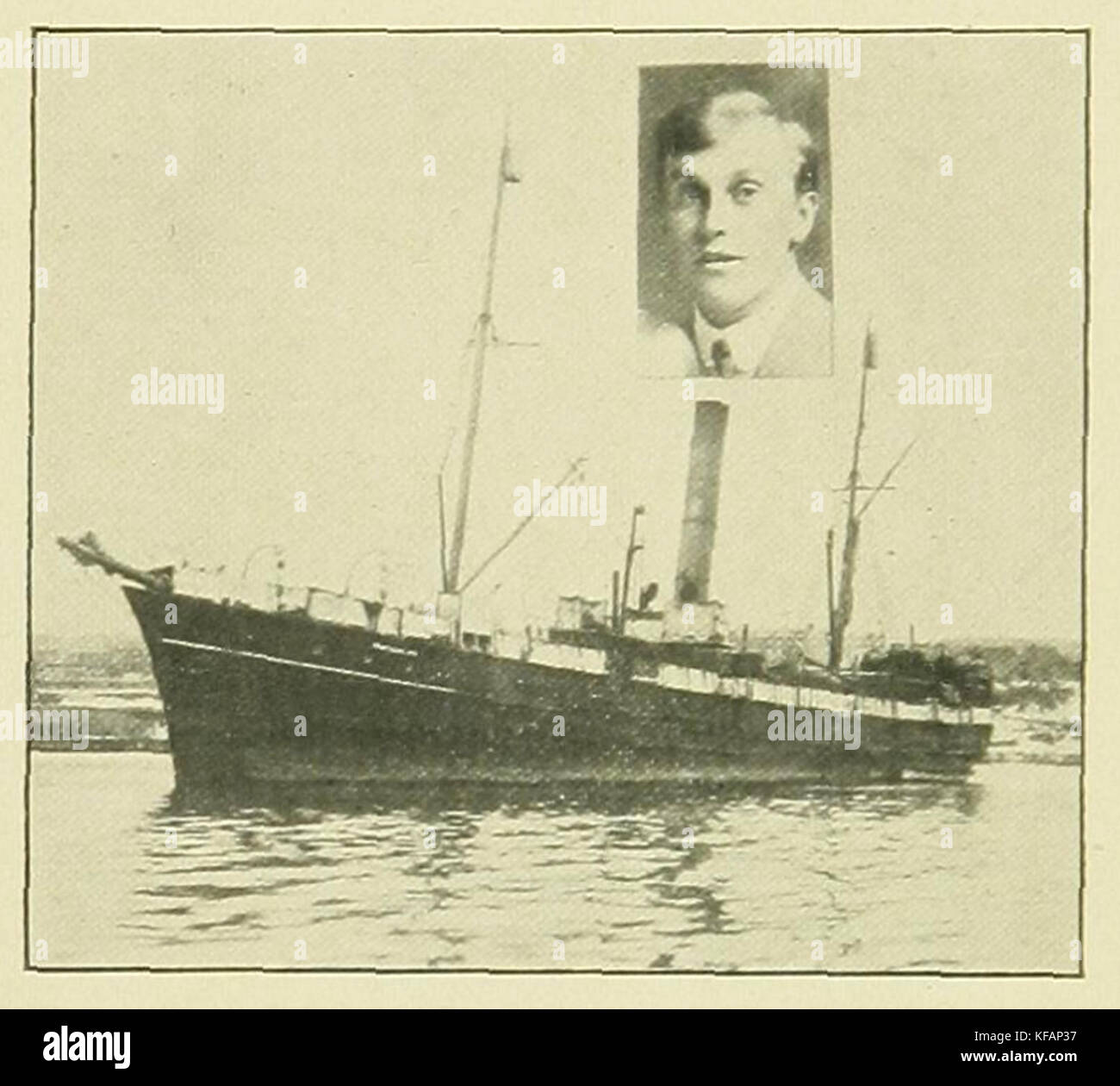 SS Newfoundland with Capt. W. Kean, captain at time of 1914 sealing disaster Stock Photo