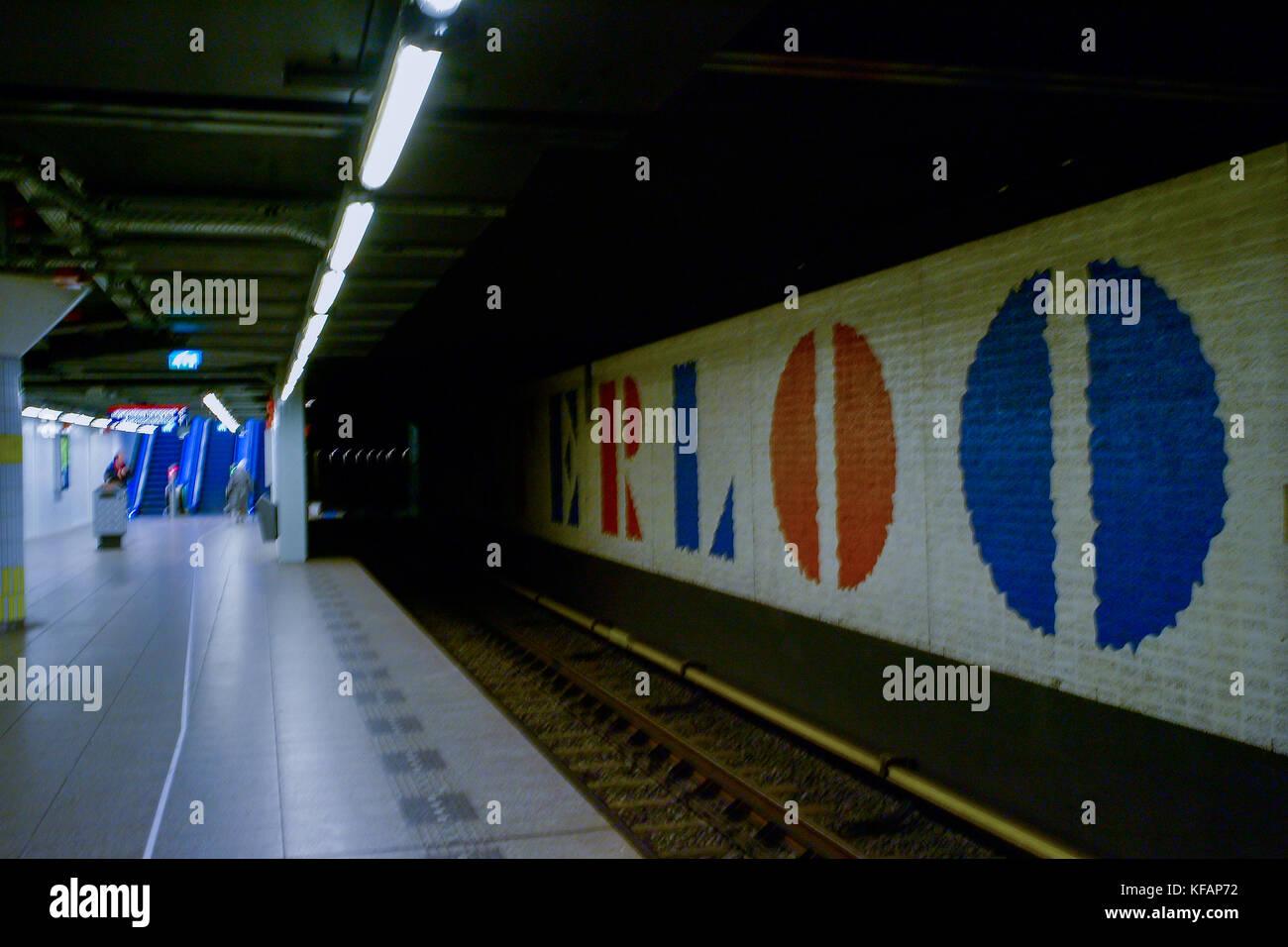 Waterloo metropolitan station, Amsterdam, Netherlands - Stock Image