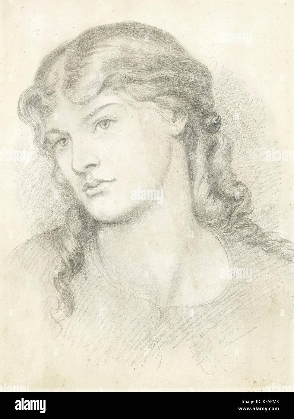 Alexa Wilding, by Dante Gabriel Rossetti, 1865 - Stock Image