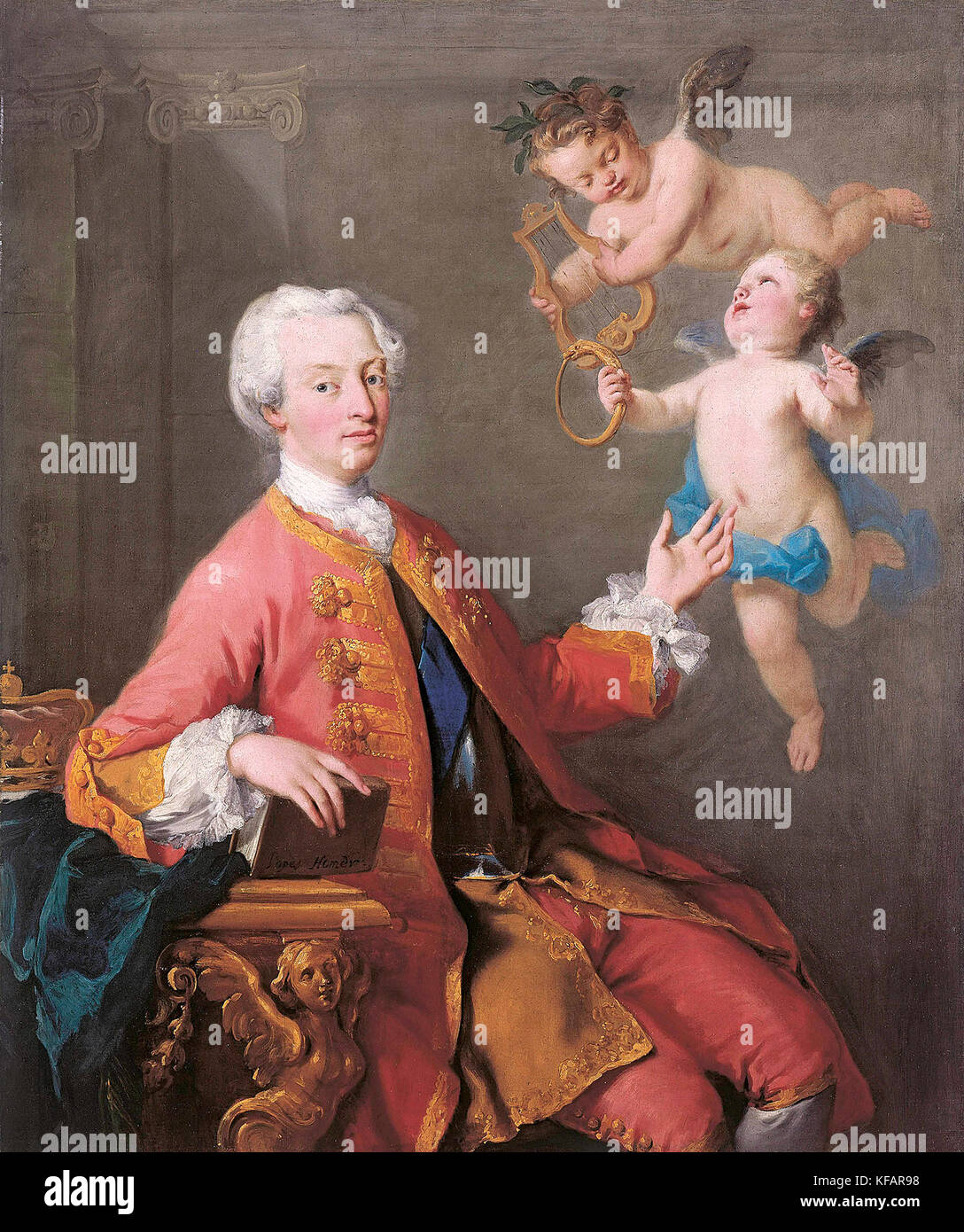 Portrait of Frederick, Prince of Wales, heir apparent to the British throne from 1727 until his death. He was the - Stock Image