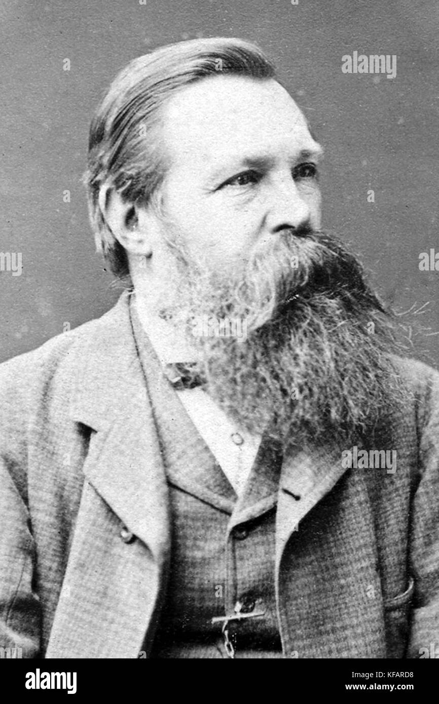 Friedrich Engels, German philosopher, scientist, co-founder of Marxist theory - Stock Image