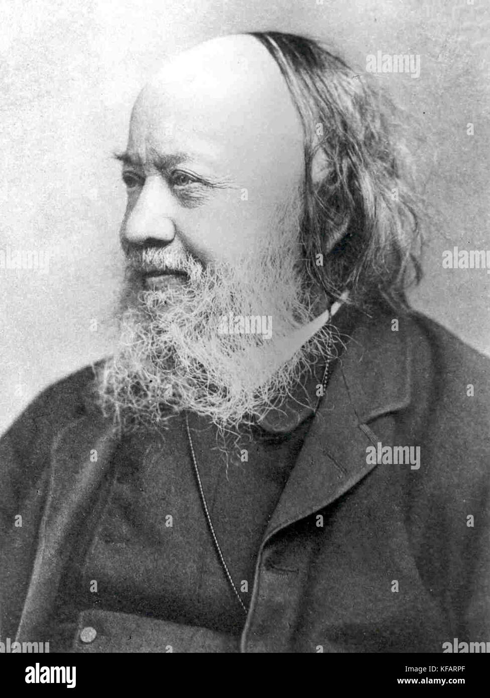 Sir Edwin Chadwick, English social reformer who worked to reform the Poor Laws and to improve sanitation and public - Stock Image