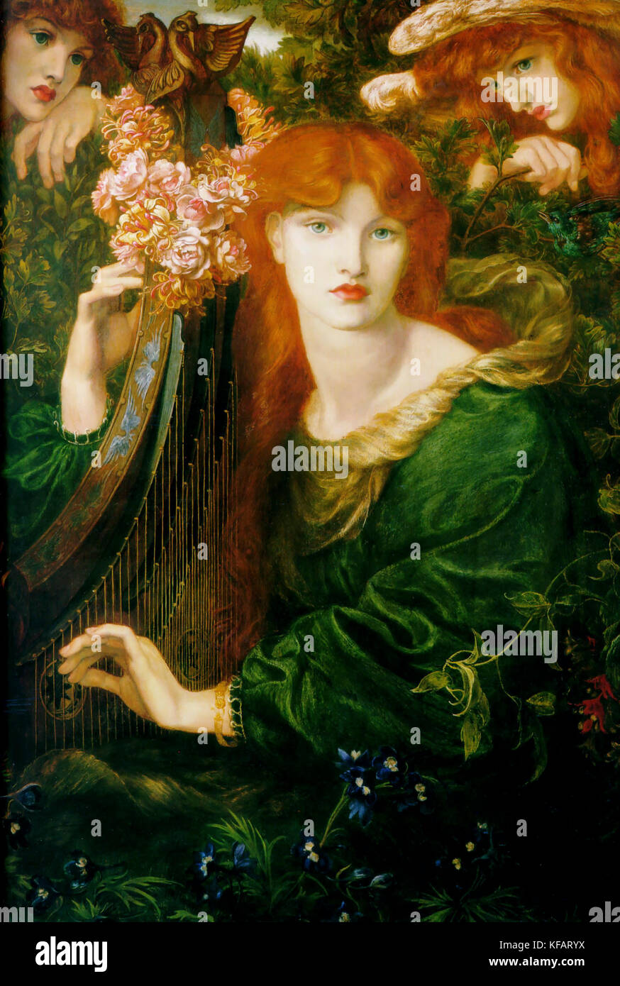 Alexa Wilding by Dante Gabriel Rossetti 1873 Stock Photo