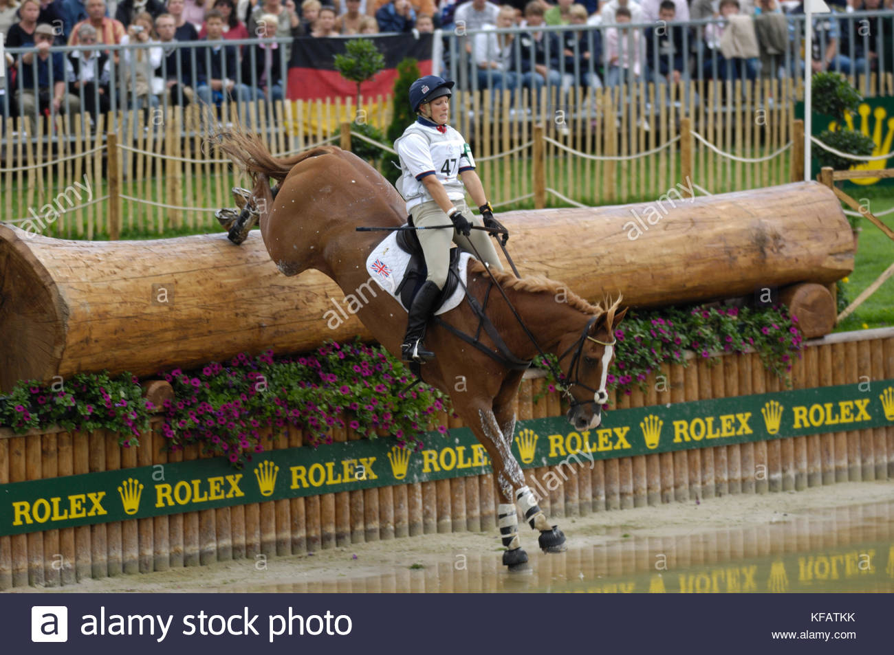 Zara Phillips (GBR) riding Toytown - World Equestrian Games, Aachen, - August 26, 2006, Eventing Cross Country - Stock Image